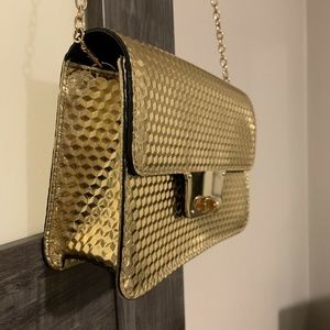 Milly Bags - Milly Gold Evening Purse Handbag